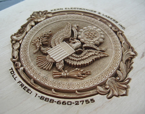 3D laser engraved presidential seal